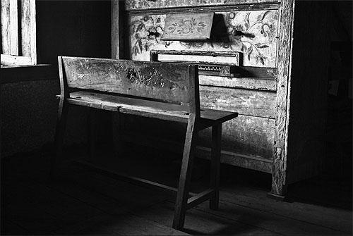 Piano d'una església missional. Jacobo Zanella a flickr.